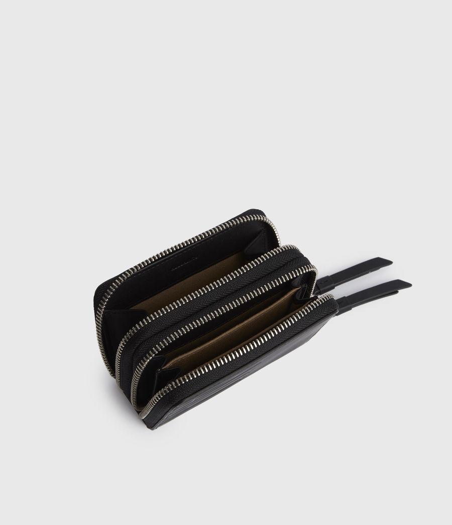 Women's Nantes Leather Cardholder (black) - Image 4