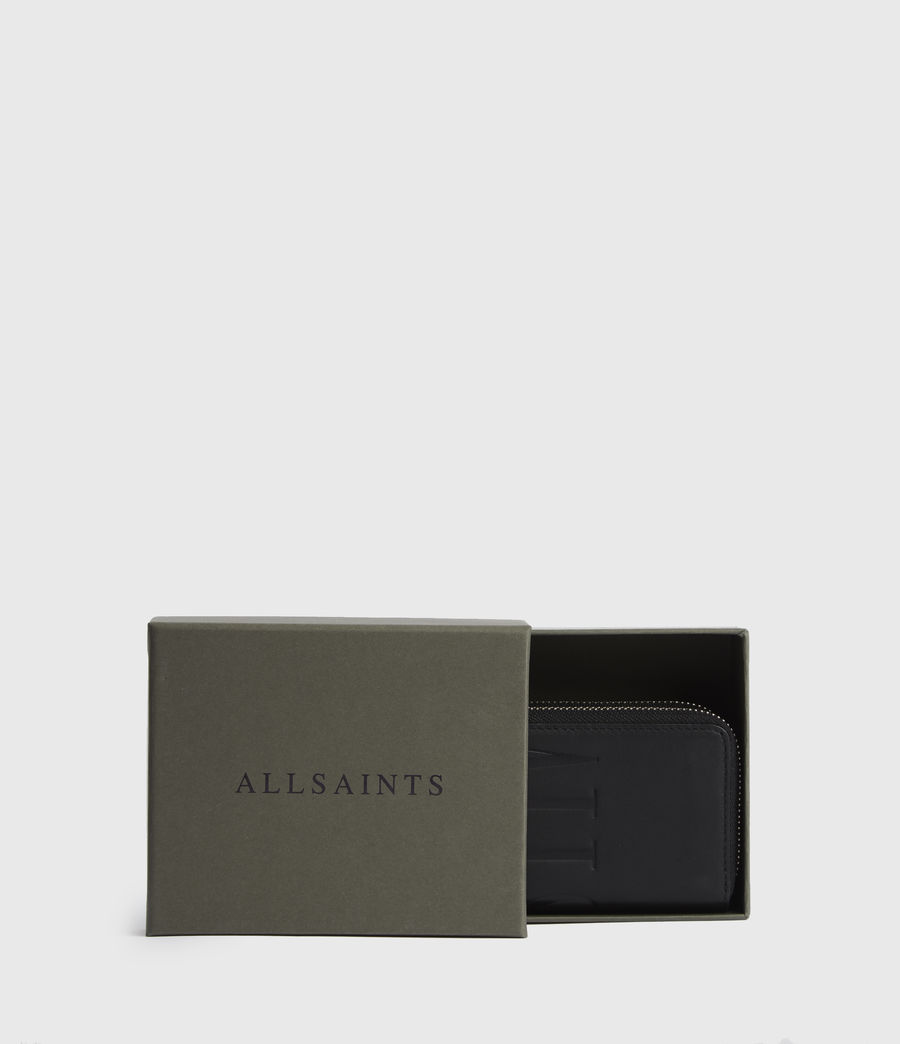 Women's Nantes Leather Cardholder (black) - Image 6
