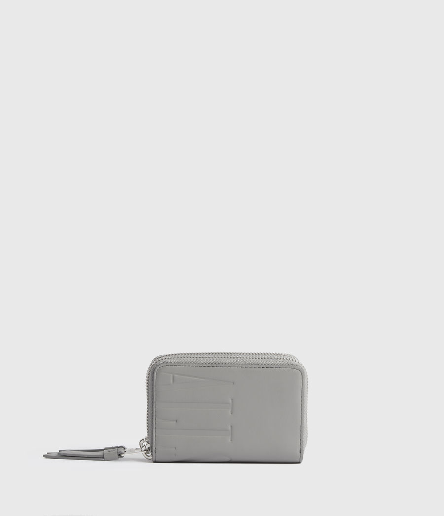 Women's Nantes Leather Cardholder (grey_mist) - Image 1
