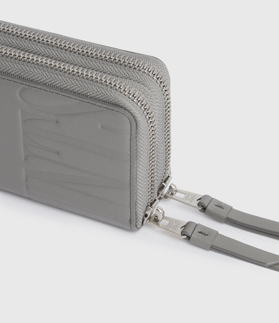 Women's Nantes Leather Cardholder (grey_mist) - Image 2