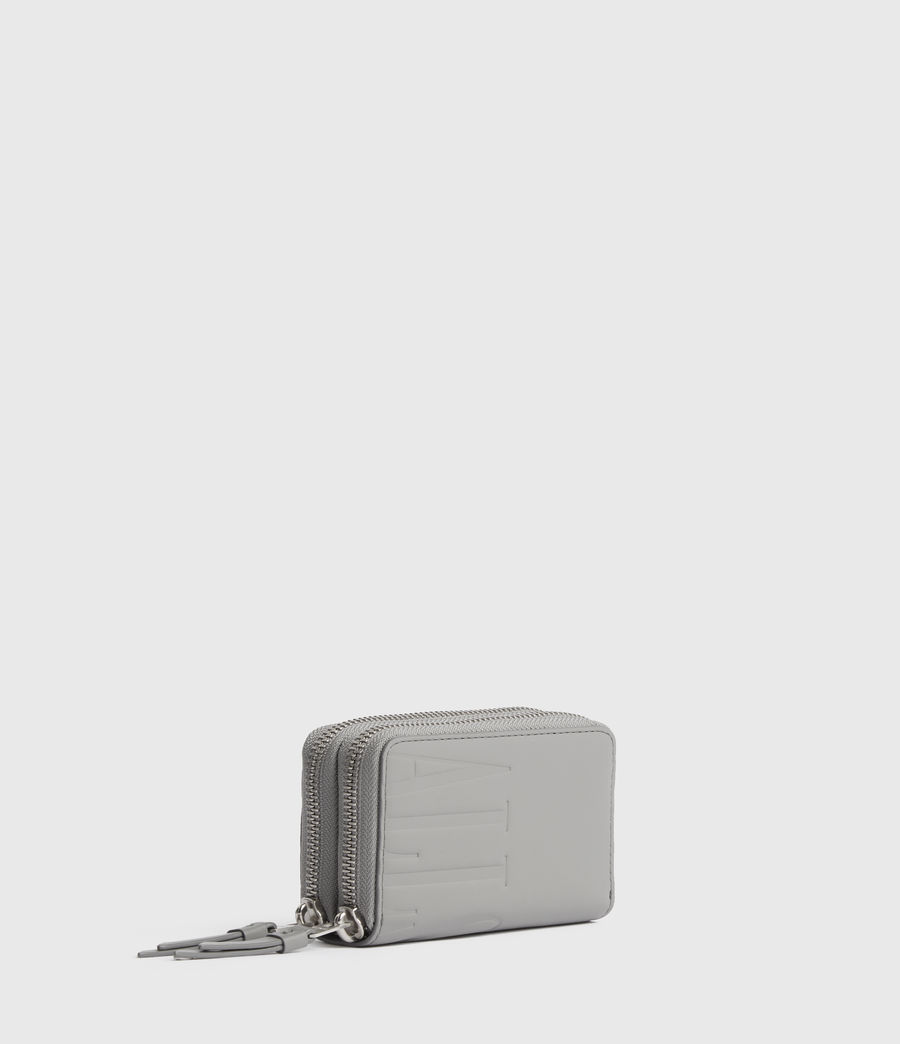 Women's Nantes Leather Cardholder (grey_mist) - Image 3