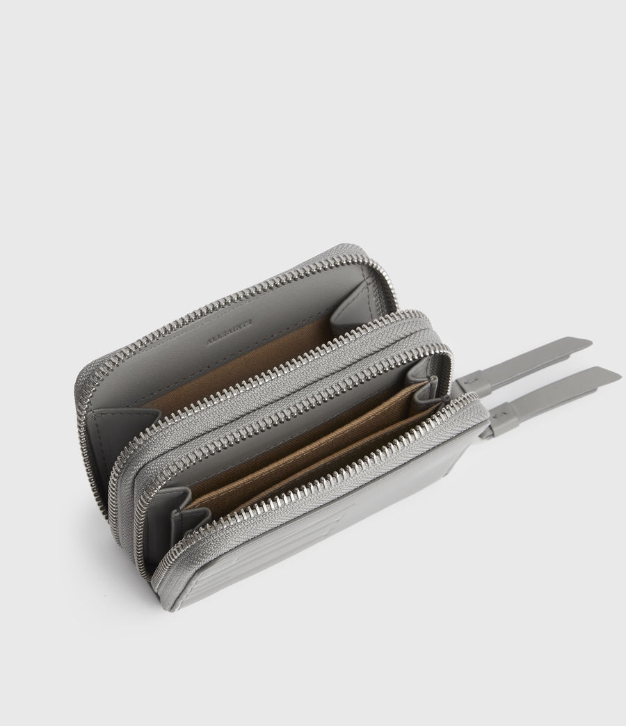 Women's Nantes Leather Cardholder (grey_mist) - Image 4