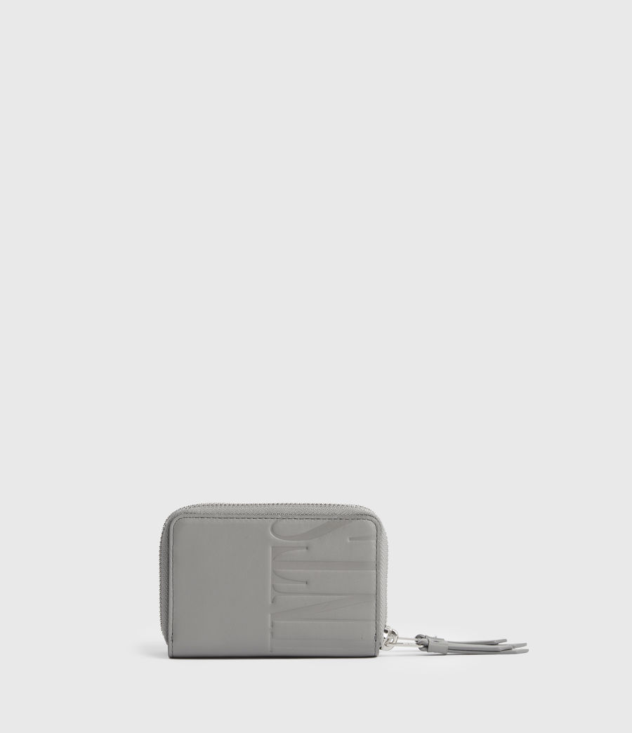 Women's Nantes Leather Cardholder (grey_mist) - Image 5