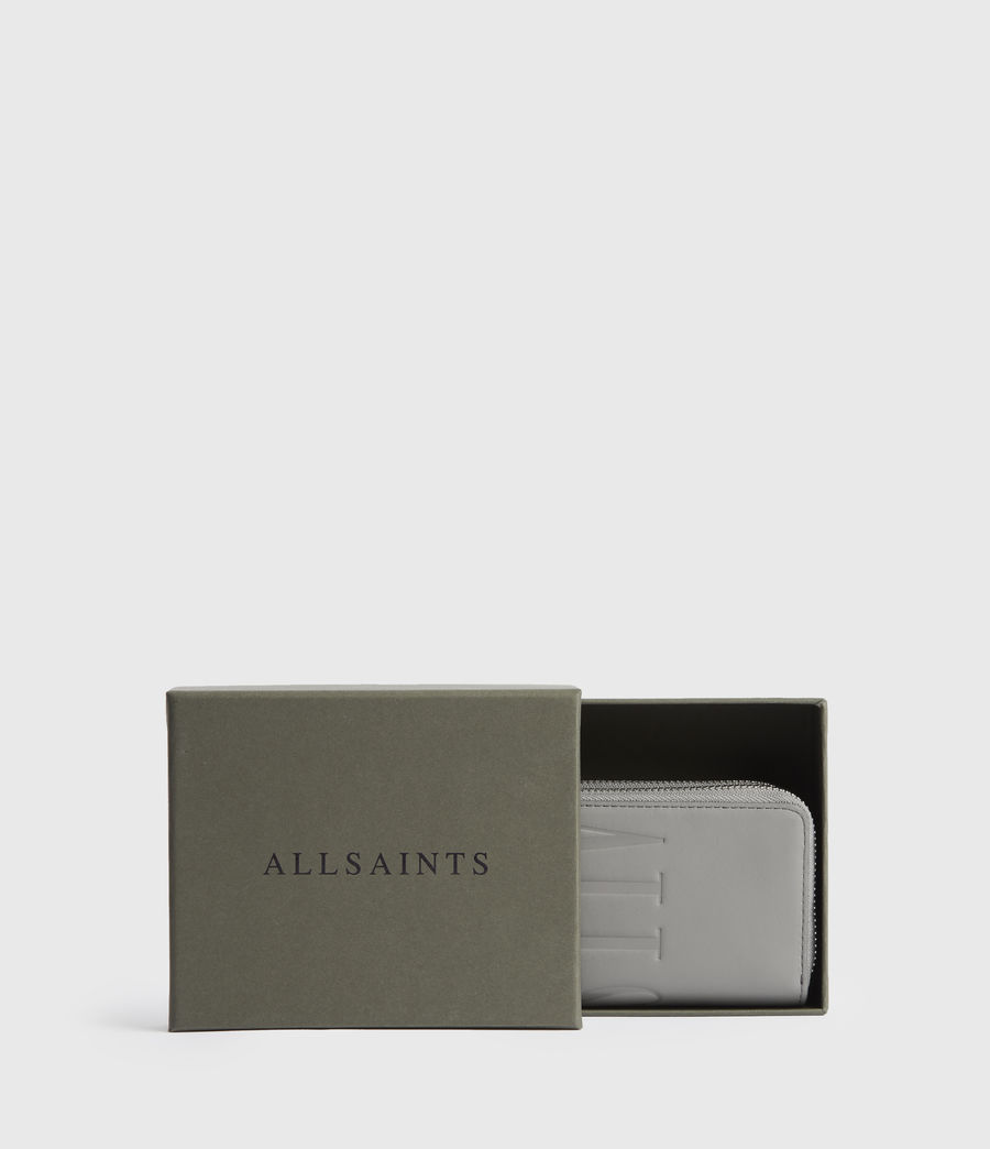 Women's Nantes Leather Cardholder (grey_mist) - Image 6