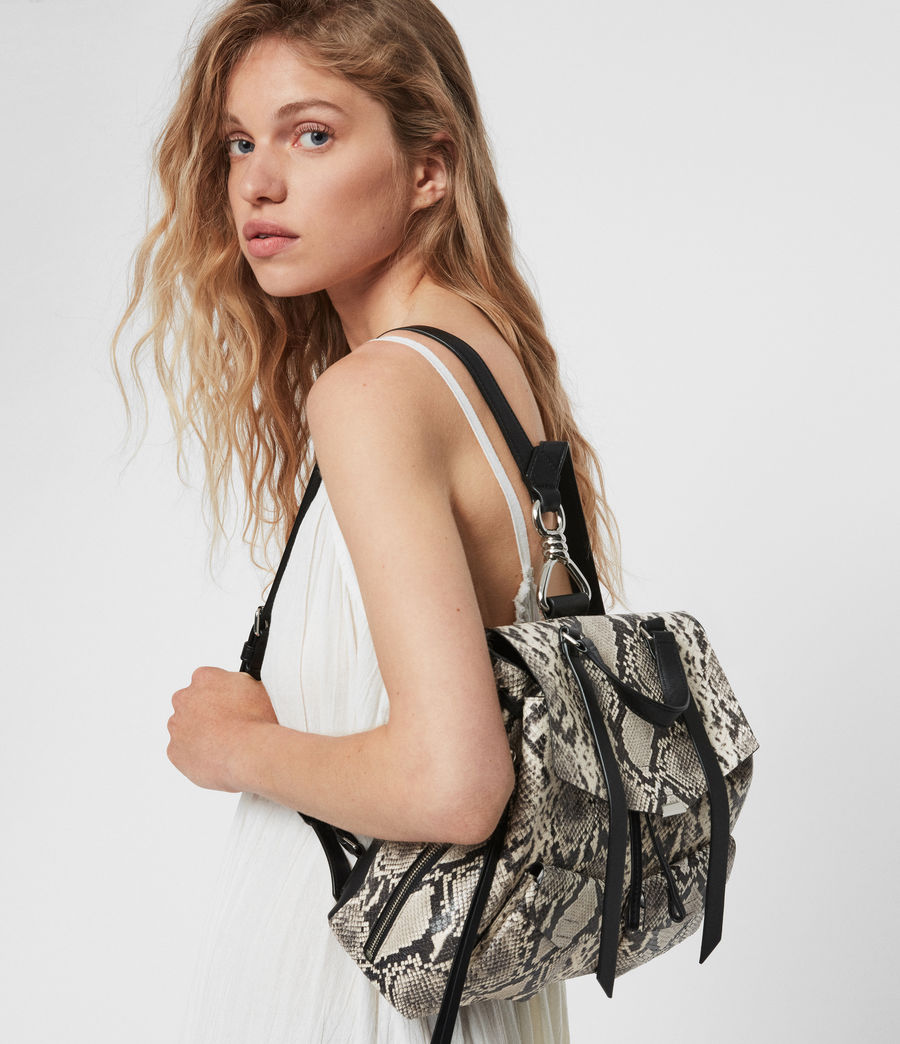 Womens Sliver Suede Backpack (natural) - Image 2