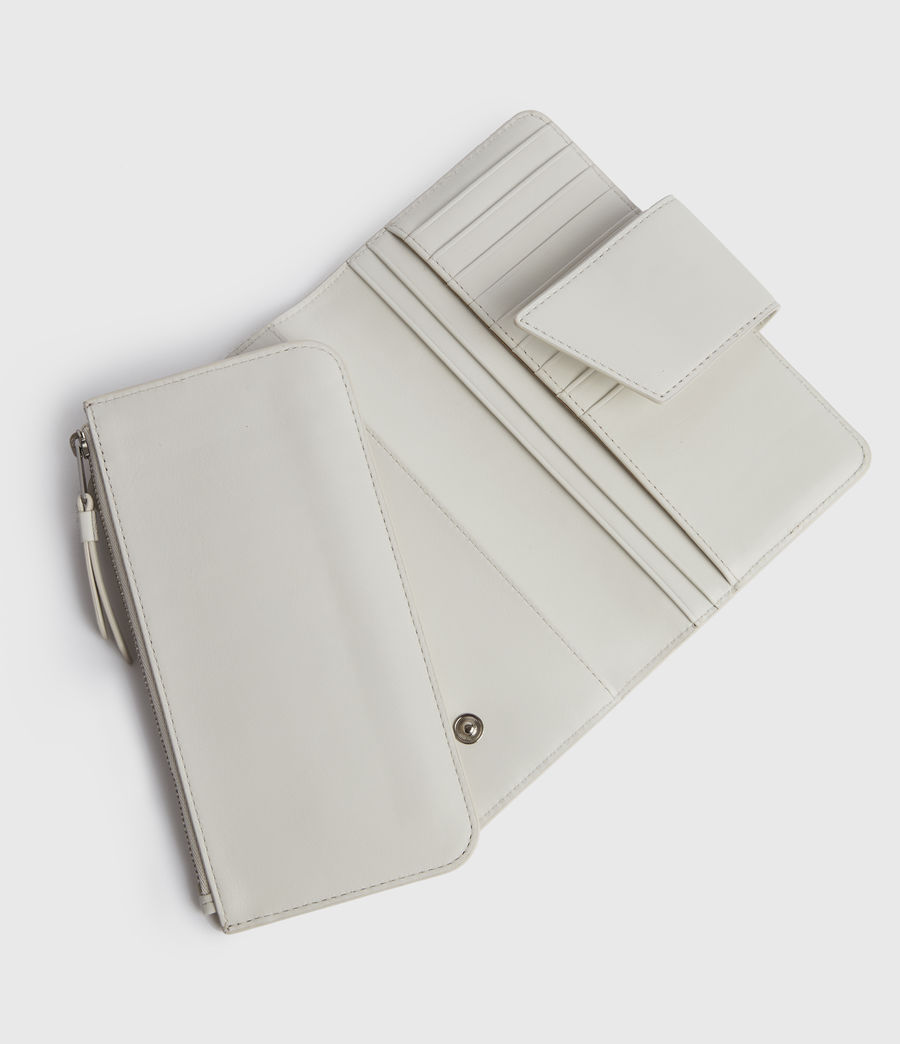 Womens Mallow Leather Wallet (chalk_white) - Image 2