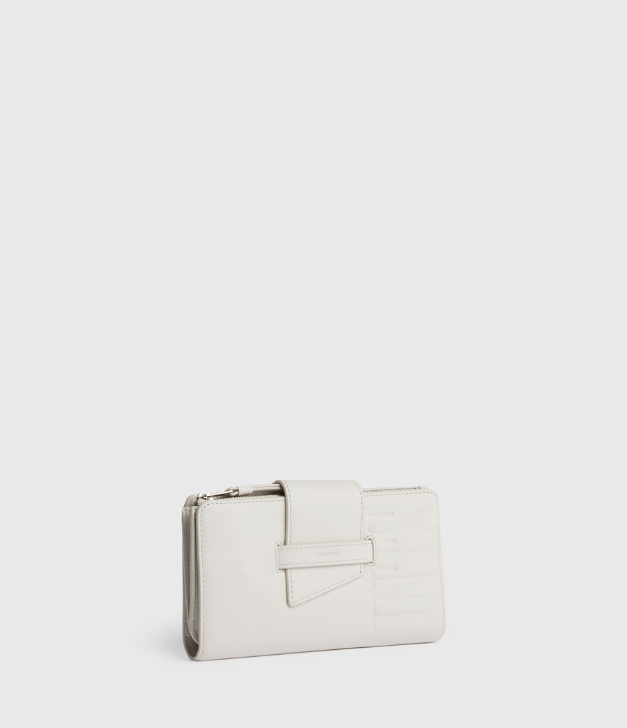Womens Mallow Leather Wallet (chalk_white) - Image 3