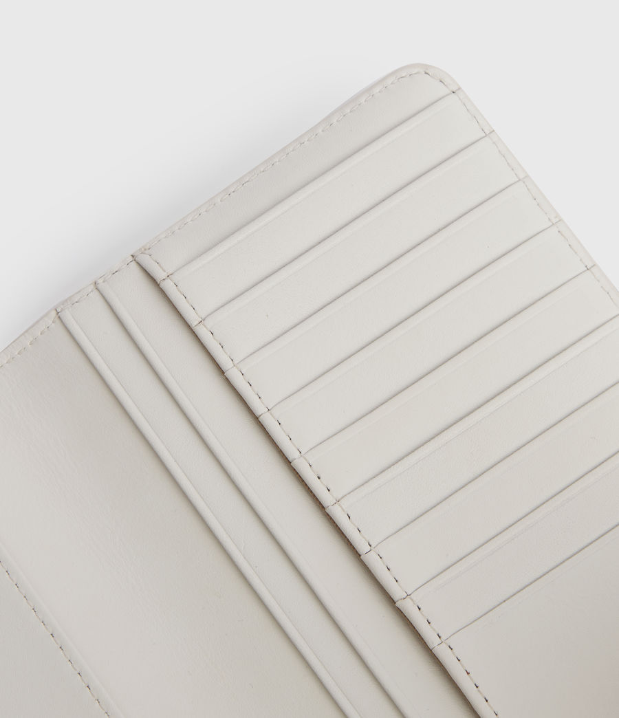 Womens Mallow Leather Wallet (chalk_white) - Image 4