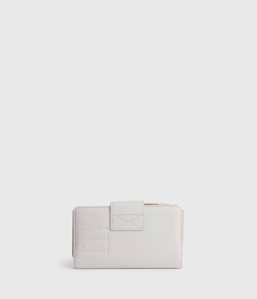 Womens Mallow Leather Wallet (chalk_white) - Image 6