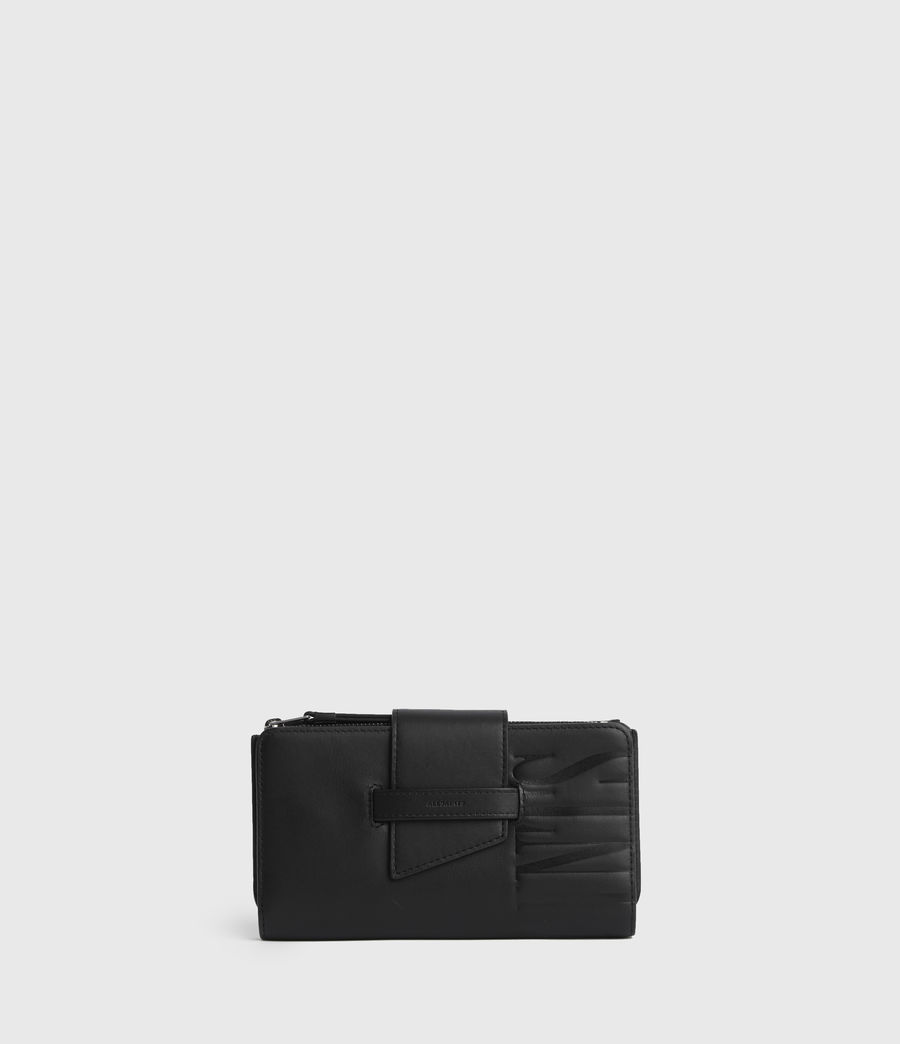 Women's Mallow Leather Wallet (black) - Image 1