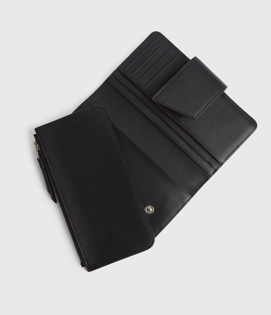 Women's Mallow Leather Wallet (black) - Image 2