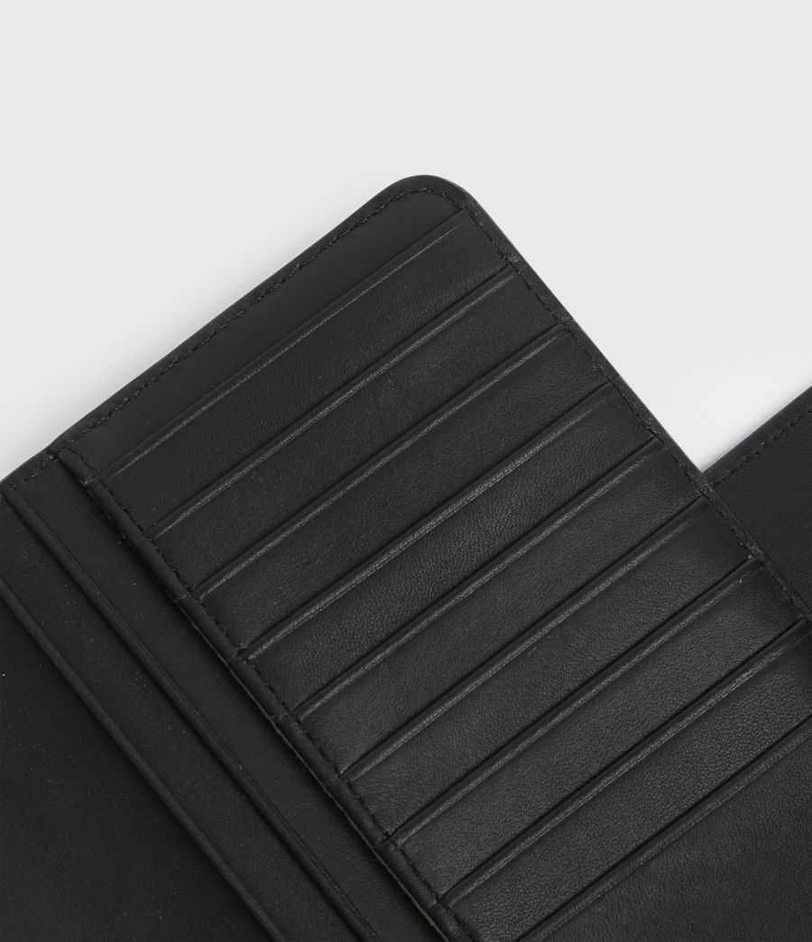 Women's Mallow Leather Wallet (black) - Image 4