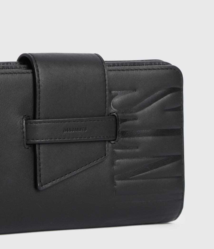 Women's Mallow Leather Wallet (black) - Image 5