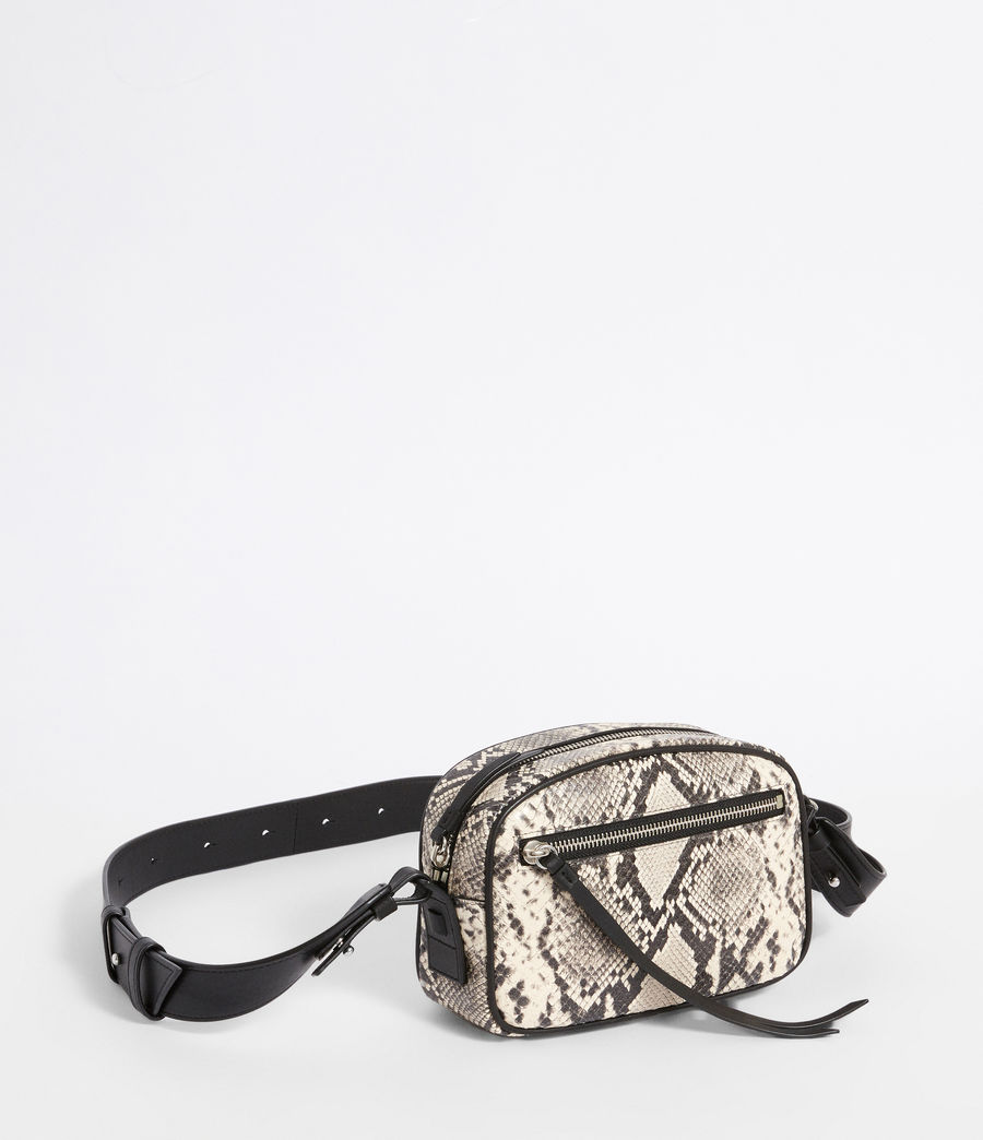 Womens Sliver Suede Fanny Pack Crossbody Bag (natural) - Image 3