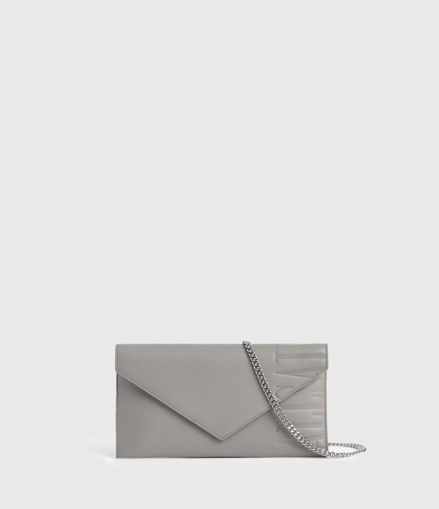 Women's Lever Leather Envelope Wallet (grey_mist) - Image 1