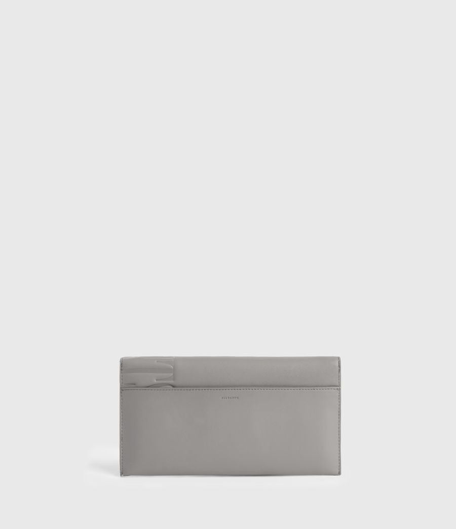 Women's Lever Leather Envelope Wallet (grey_mist) - Image 6