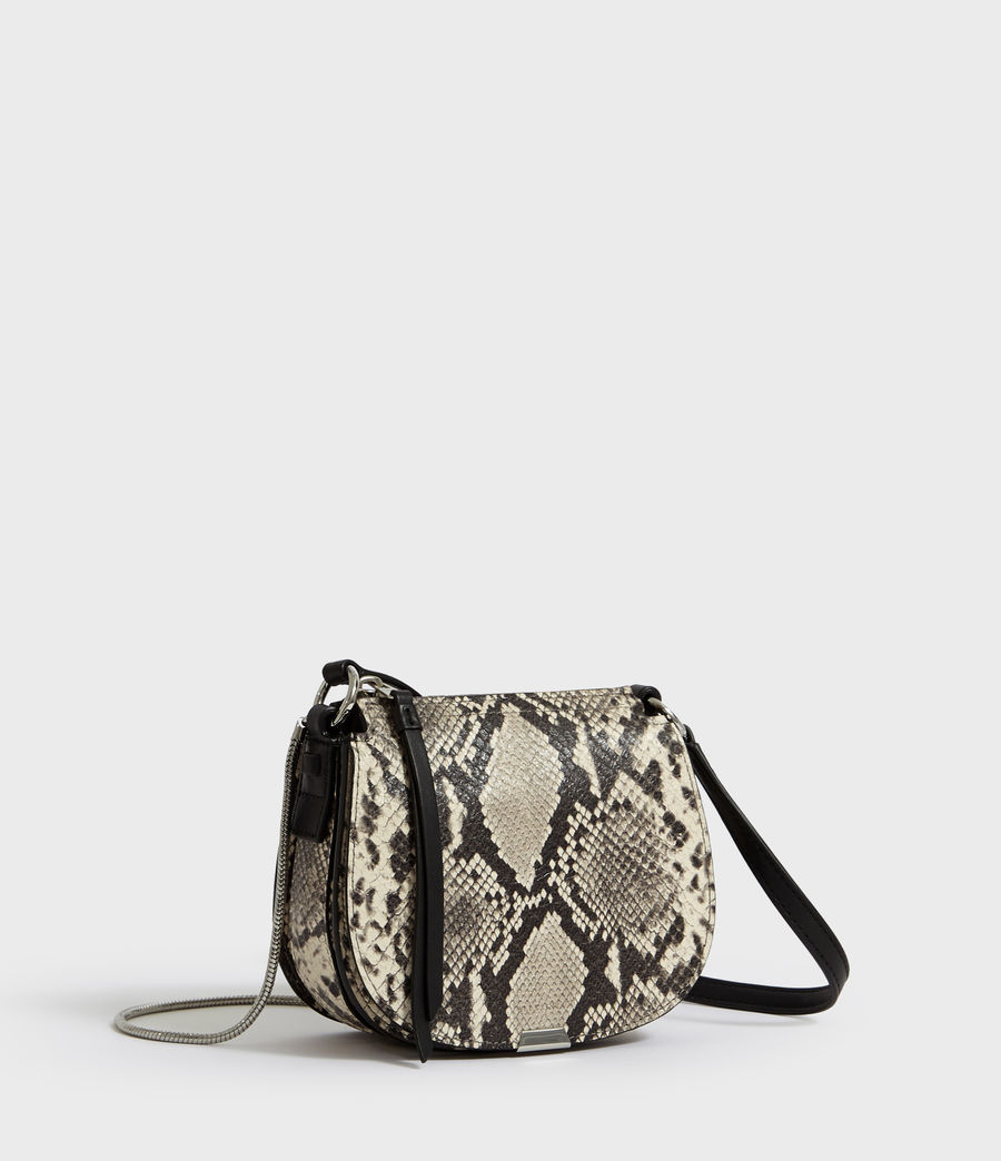 Women's Sliver Suede Mini Round Crossbody Bag (natural) - Image 3