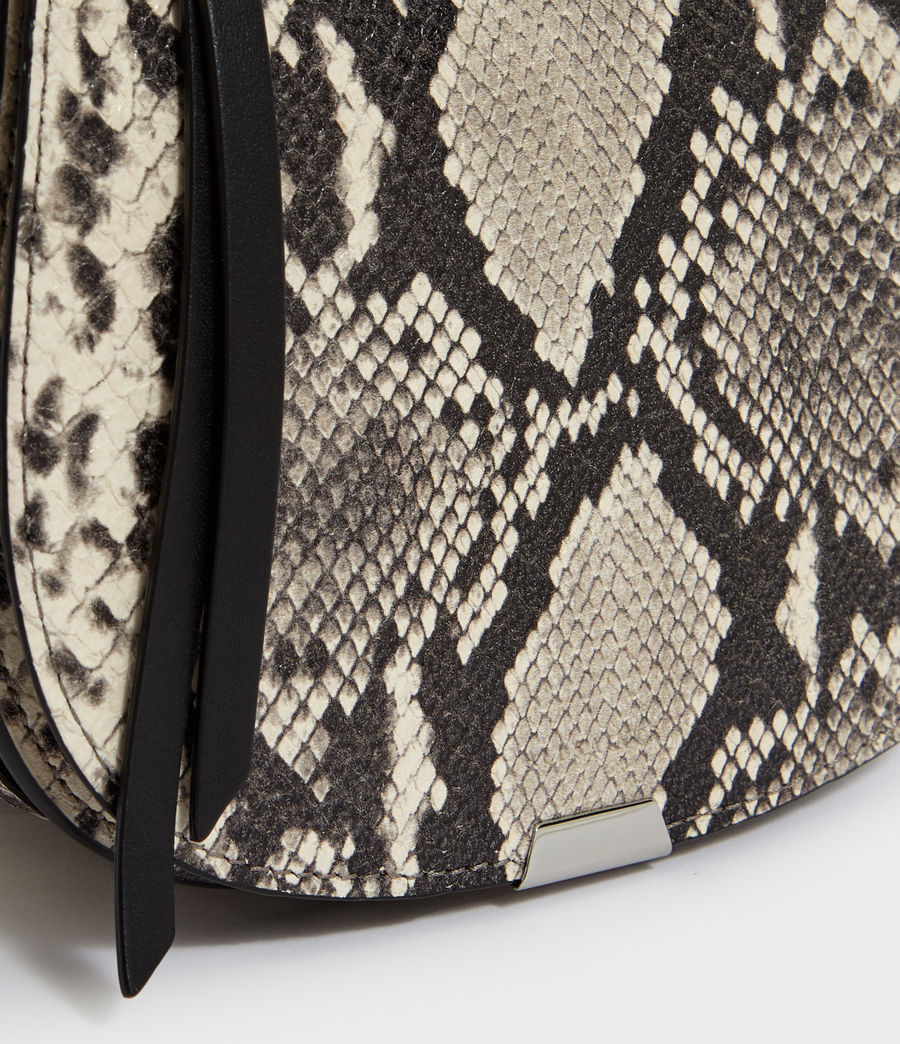 Women's Sliver Suede Mini Round Crossbody Bag (natural) - Image 6