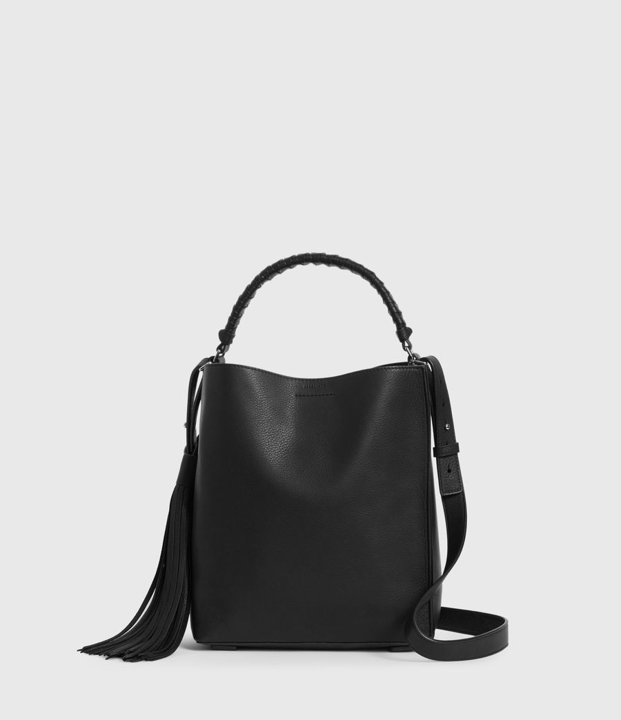Donne Borsa Tote Shirley North South (Piccola) - In pelle zigrinata (black) - Image 1