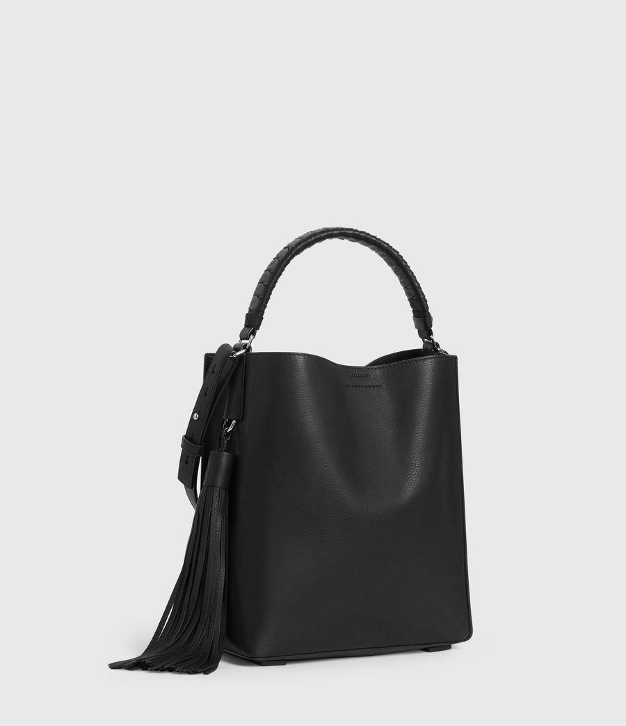 Womens Shirley Small North South Leather Tote Bag (black) - Image 3