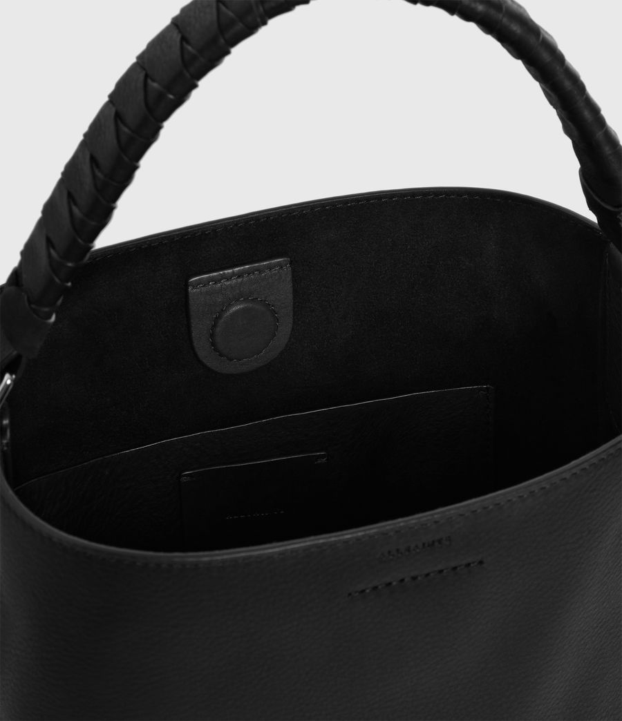 Donne Borsa Tote Shirley North South (Piccola) - In pelle zigrinata (black) - Image 4