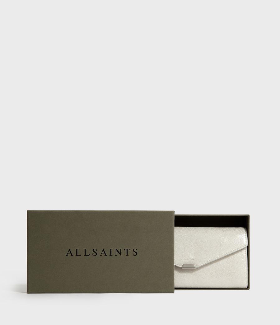 Womens Glitz Chain Wallet Leather Crossbody Bag (glittering_silver) - Image 7