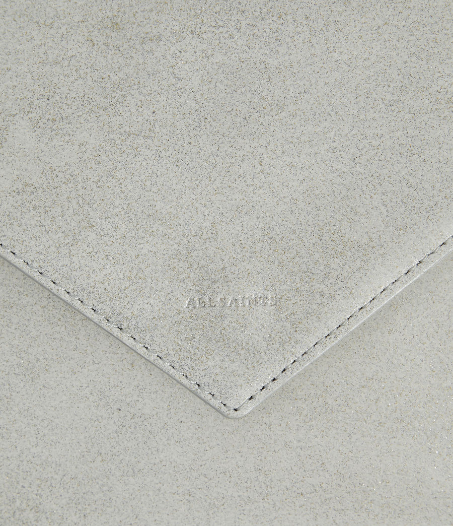 Womens Glitz Leather Clutch Bag (glittering_silver) - Image 3