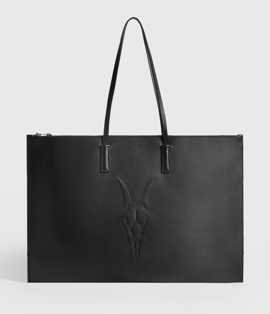 Womens Blythe East West Leather Tote Bag (black) - Image 1