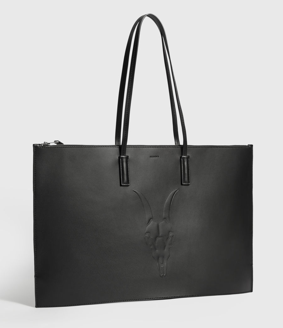 Womens Blythe East West Leather Tote Bag (black) - Image 3