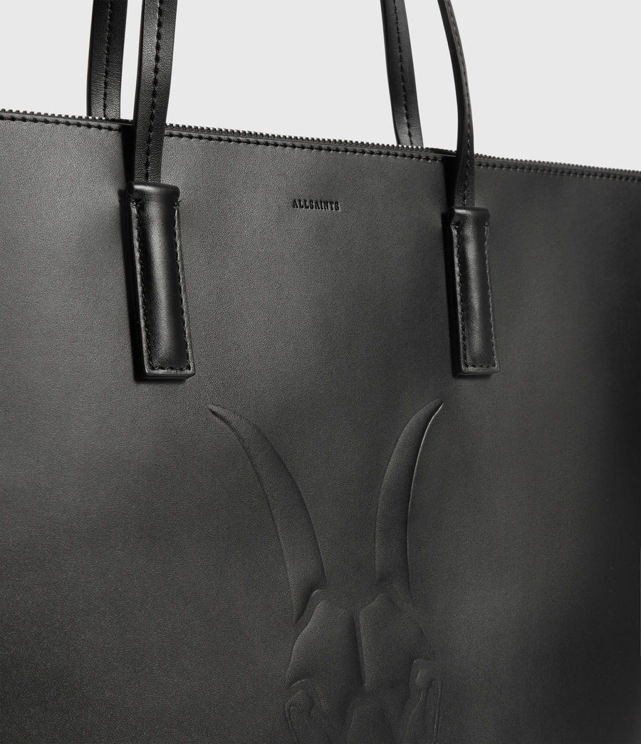 Womens Blythe East West Leather Tote Bag (black) - Image 4