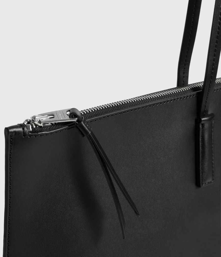 Womens Blythe East West Leather Tote Bag (black) - Image 5