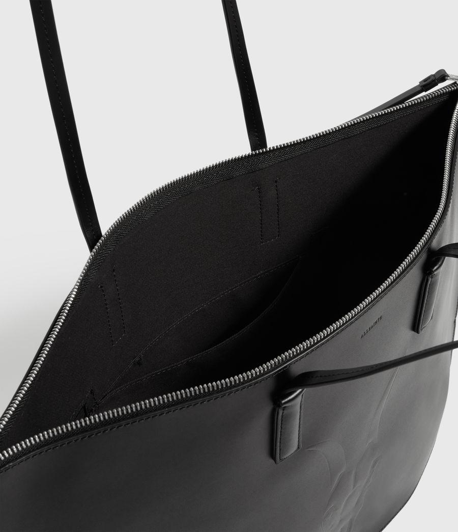 Women's Blythe Leather East West Tote Bag (black) - Image 4
