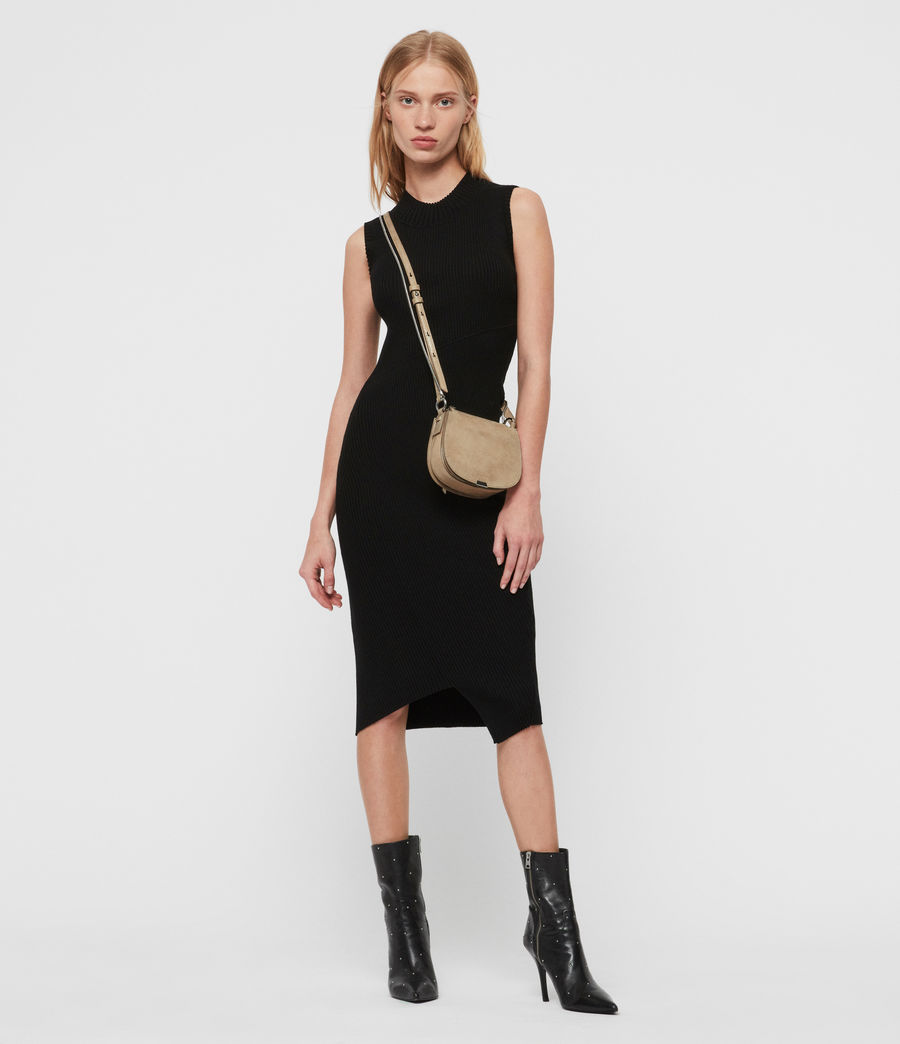 Mujer Glitz Mini Round Leather Crossbody Bag (glittering_gold) - Image 1