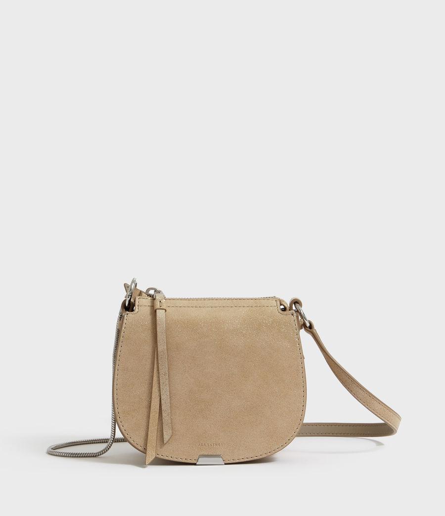 Mujer Glitz Mini Round Leather Crossbody Bag (glittering_gold) - Image 2