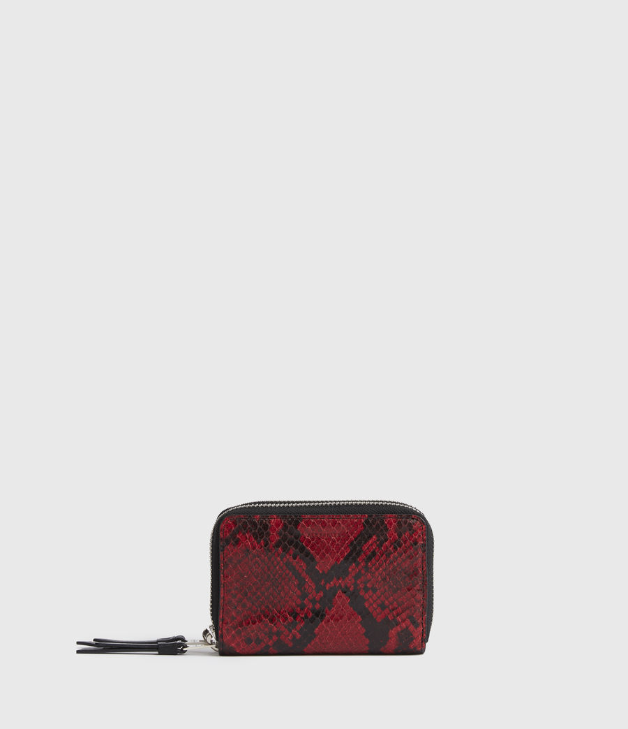 Womens Nantes Leather Cardholder (red) - Image 1