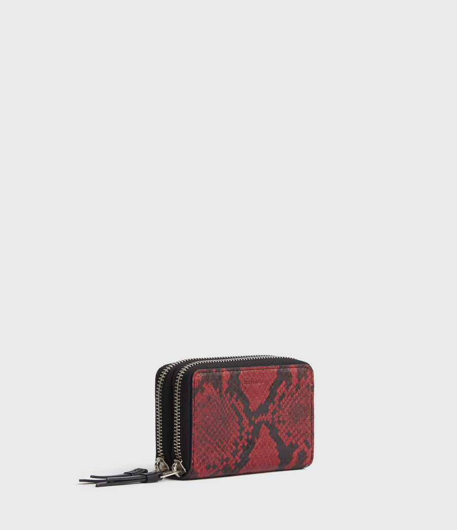 Womens Nantes Leather Cardholder (red) - Image 3