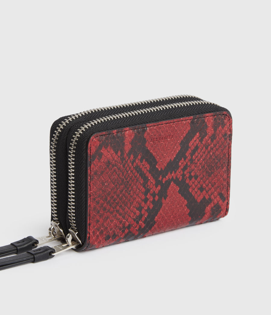 Women's Nantes Leather Cardholder (red) - Image 4