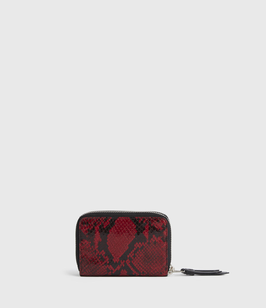 Women's Nantes Leather Cardholder (red) - Image 5