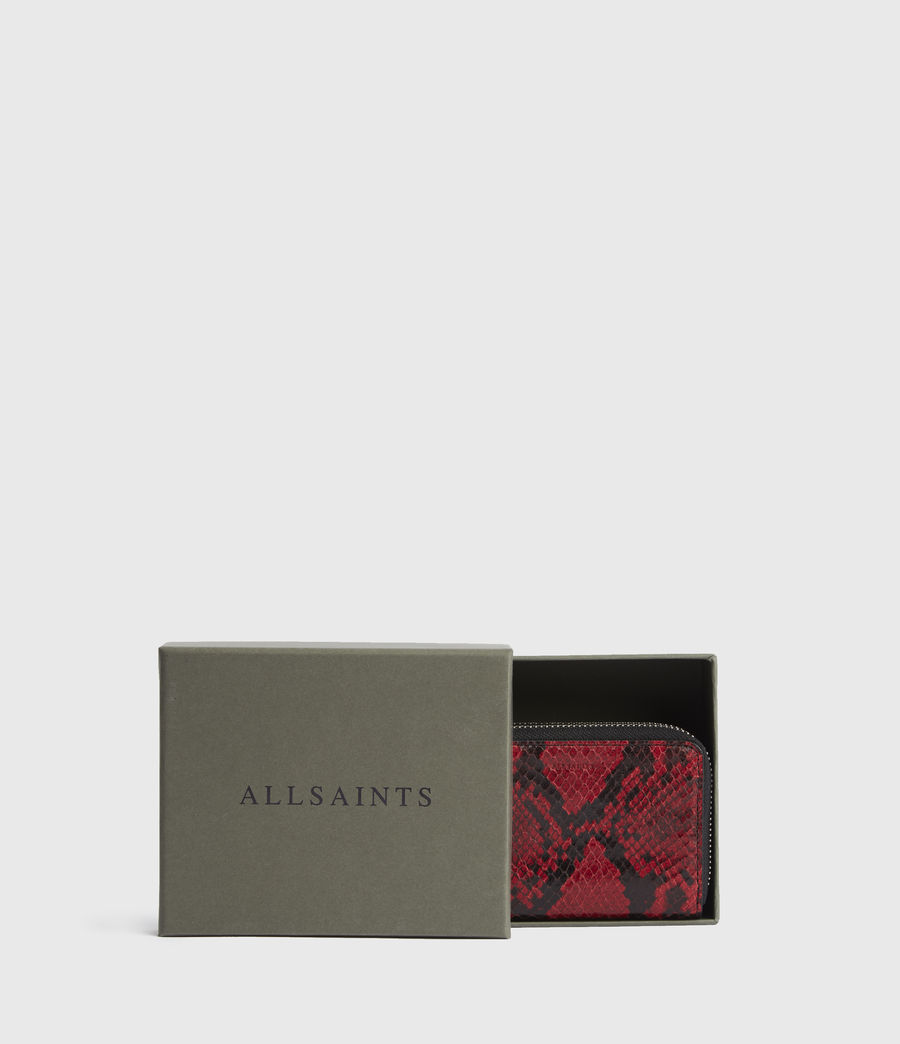 Womens Nantes Leather Cardholder (red) - Image 6