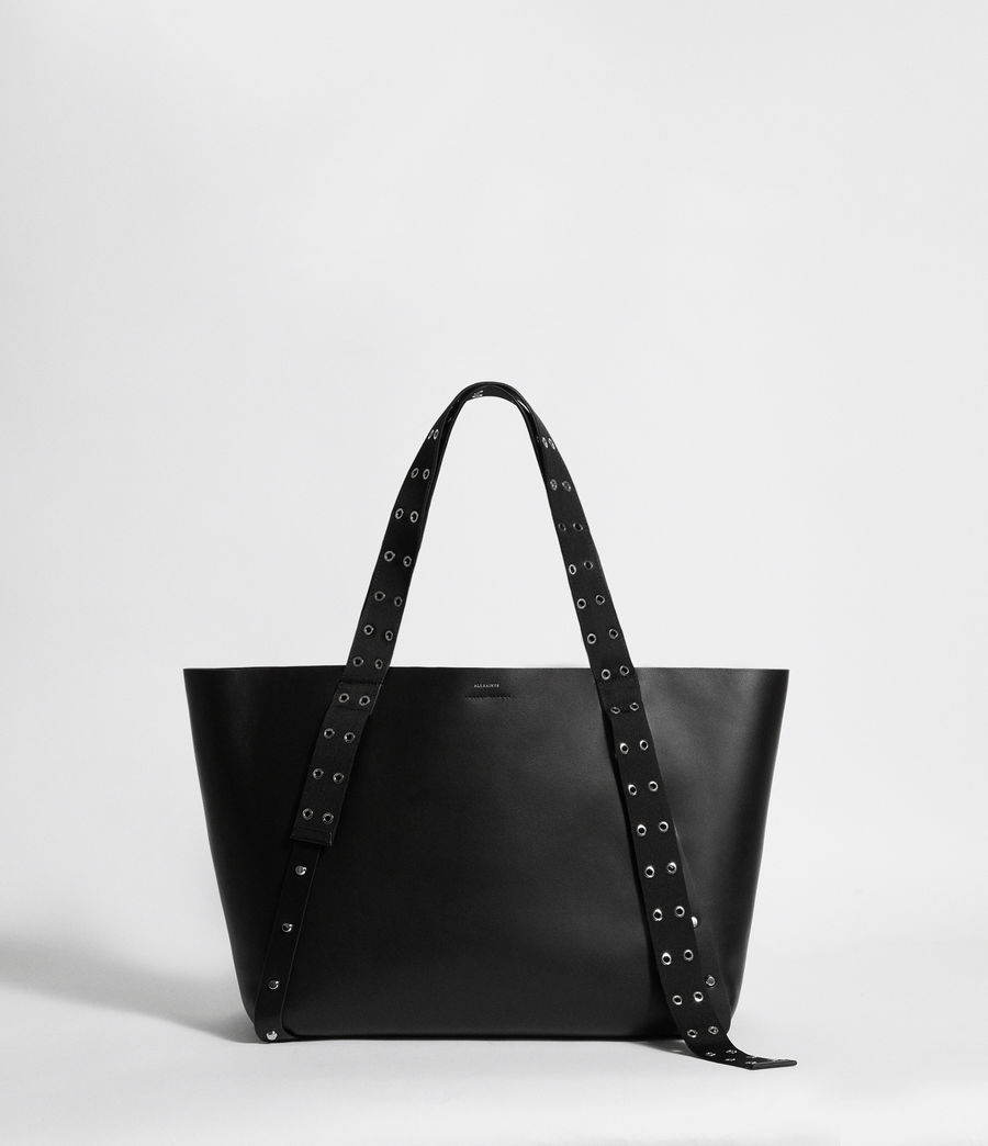 Women's Sid Leather East West Tote Bag (black) - Image 1
