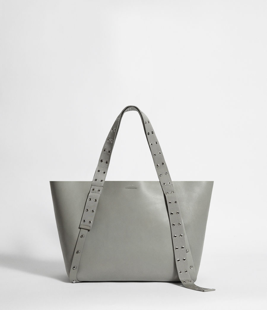 Women's Sid Leather East West Tote Bag (blue_grey) - Image 1