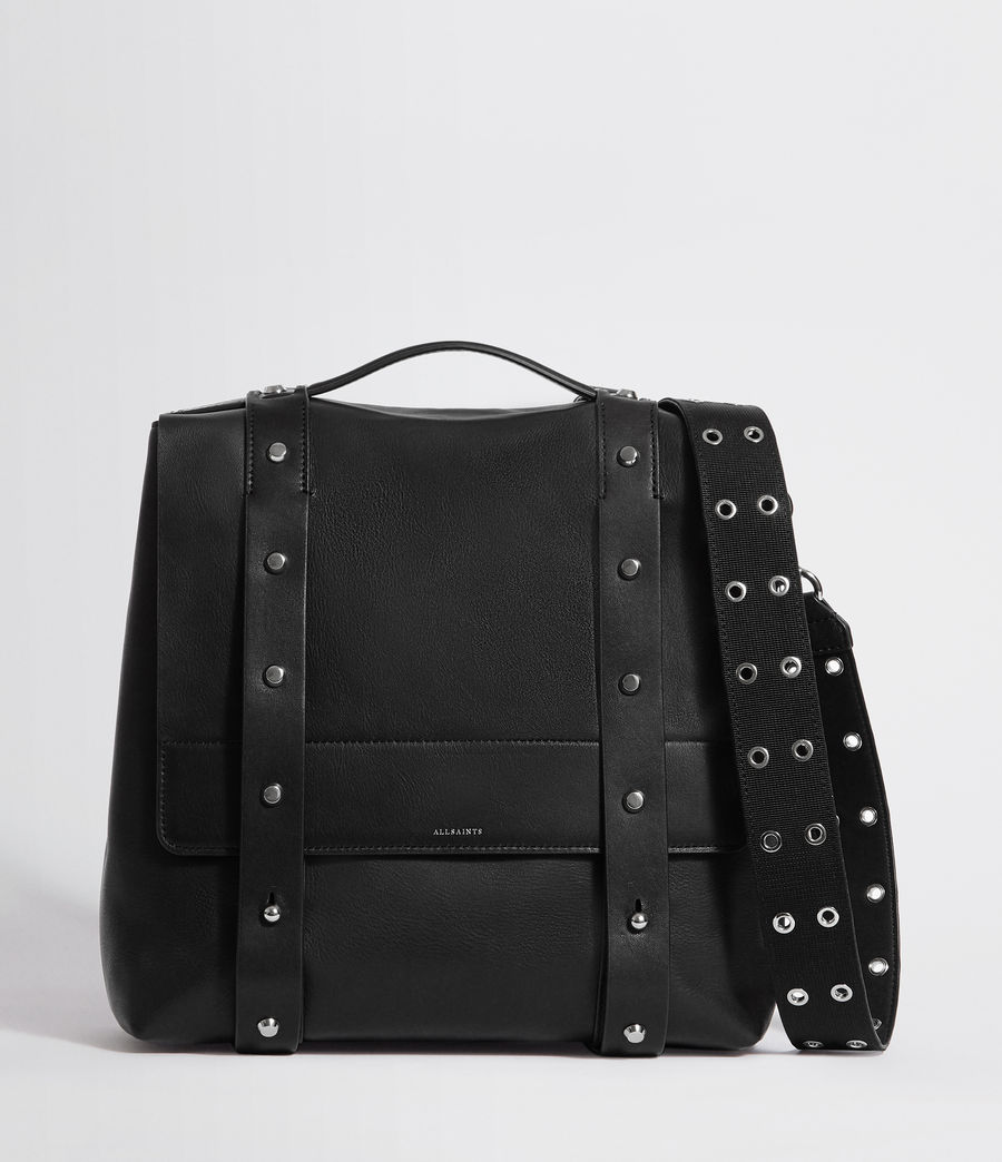 Womens Sid Leather Backpack (black) - Image 1