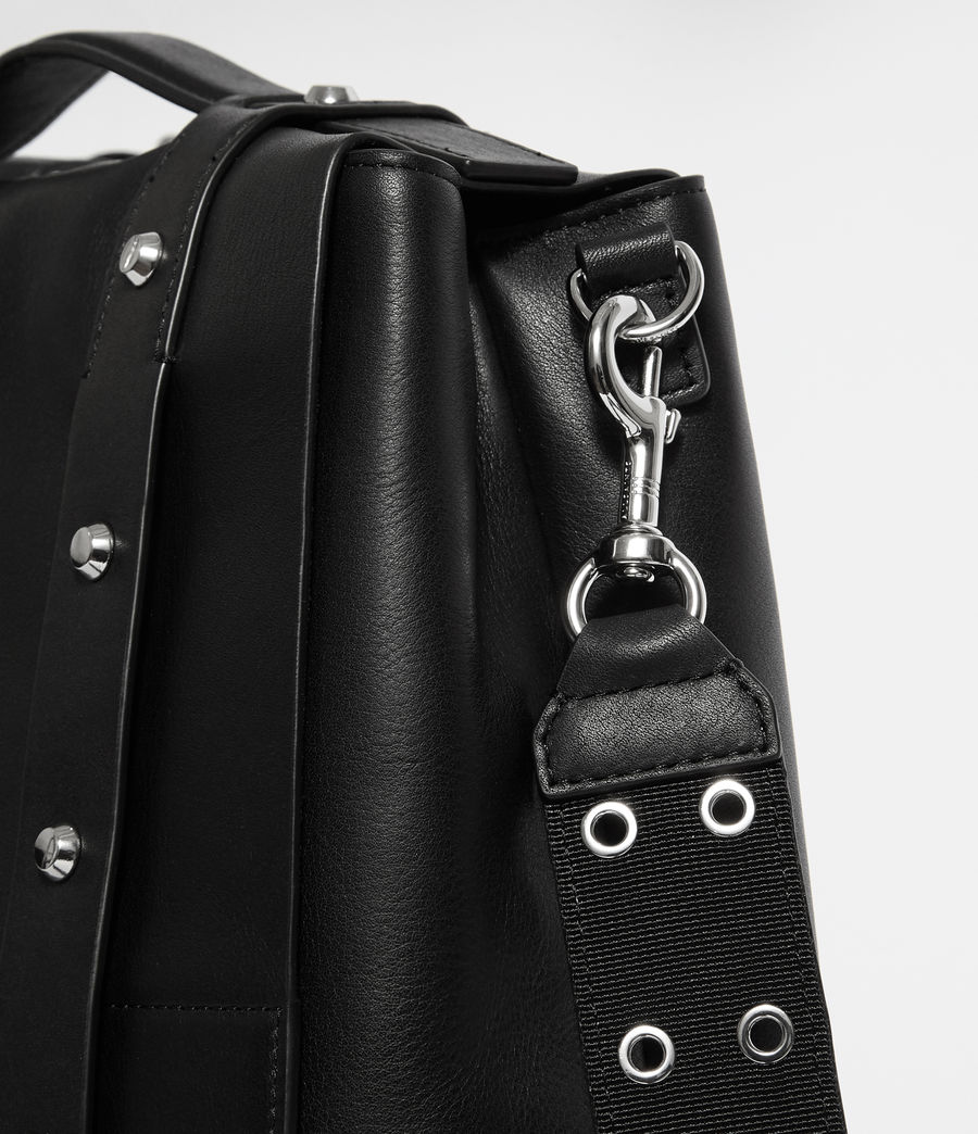 Womens Sid Leather Backpack (black) - Image 2
