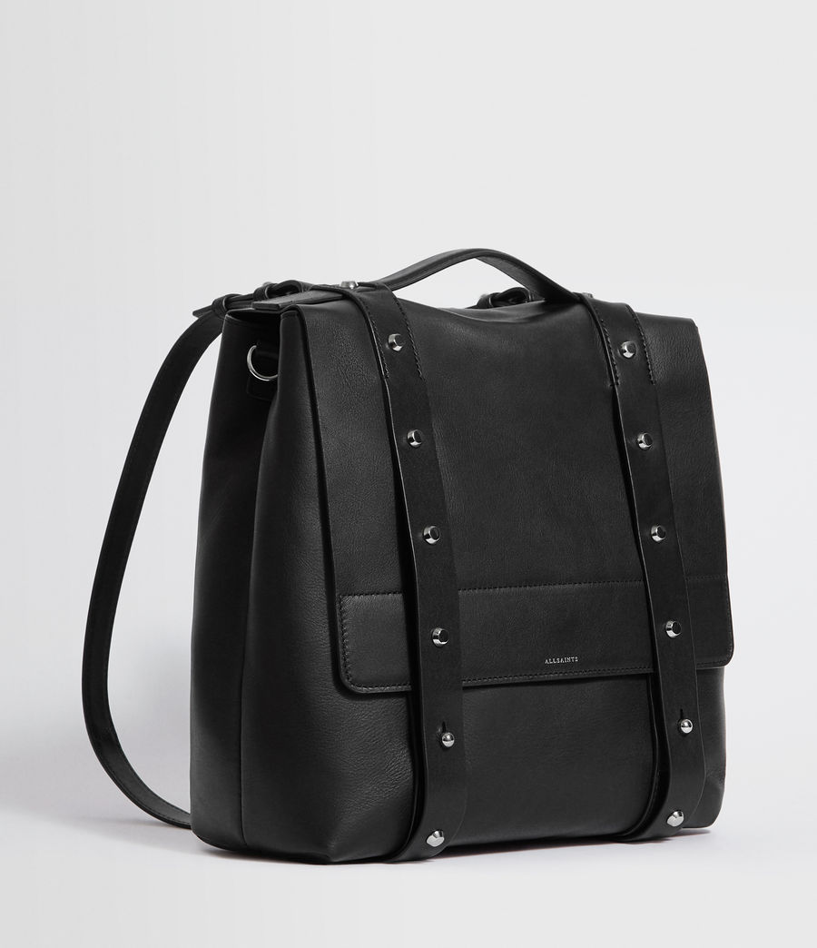 Womens Sid Leather Backpack (black) - Image 3