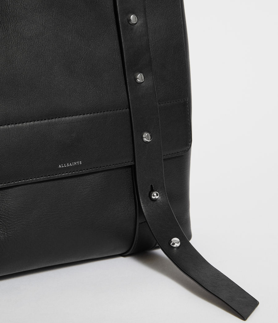 Womens Sid Leather Backpack (black) - Image 6