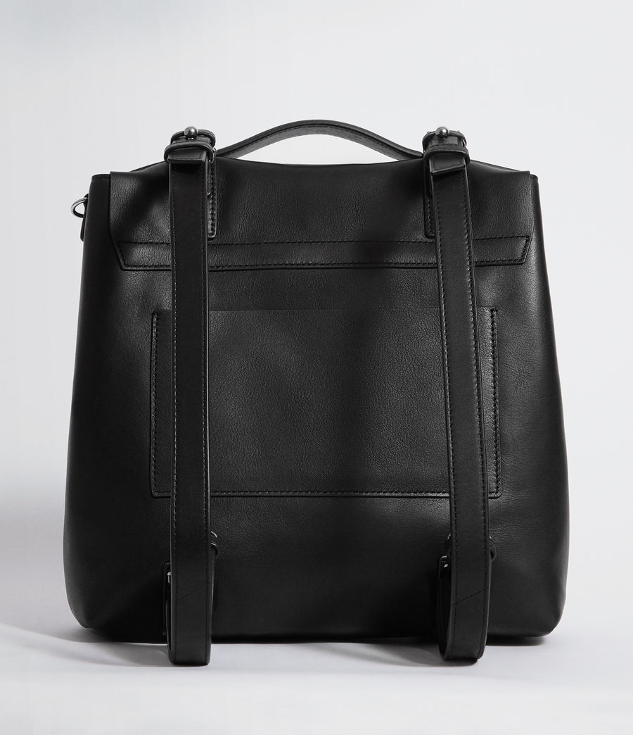 Womens Sid Leather Backpack (black) - Image 7