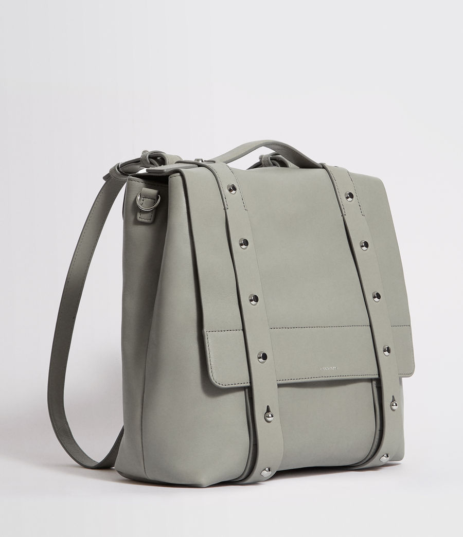 Womens Sid Leather Backpack (blue_grey) - Image 3