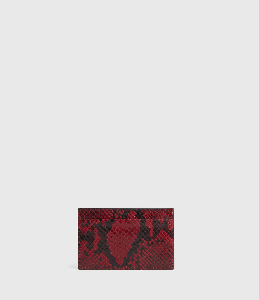 Women's Anabel Leather Card Case (red) - Image 5