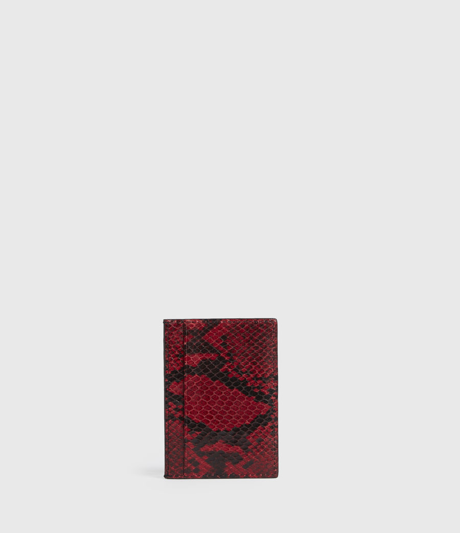 Women's Anabel Leather Card Case (red) - Image 6