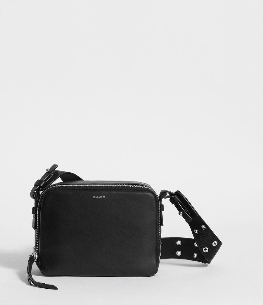 ALLSAINTS UK  Womens Sid Leather Bumbag Crossbody Bag (black) 41323c04a